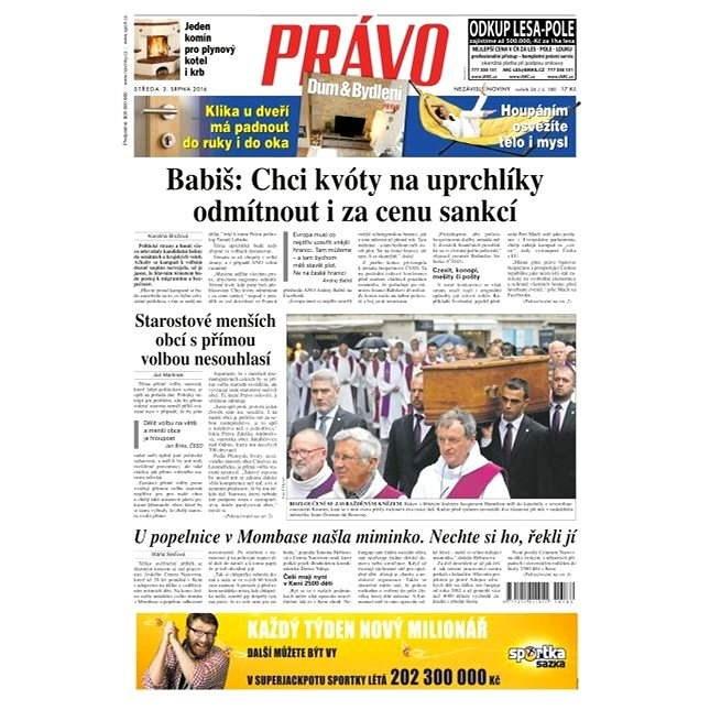 Právo - 03-08-2016 - Elektronické noviny