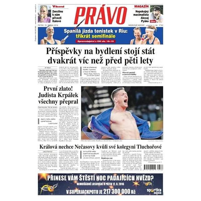 Právo - 12-08-2016 - Elektronické noviny