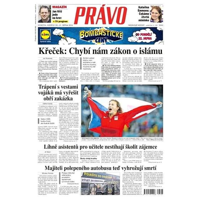 Právo - 20-08-2016 - Elektronické noviny