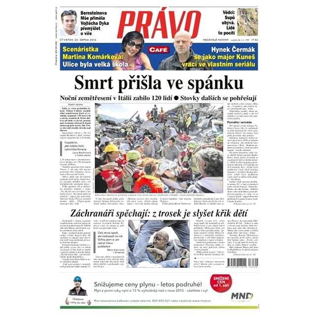 Právo - 25-08-2016 - Elektronické noviny