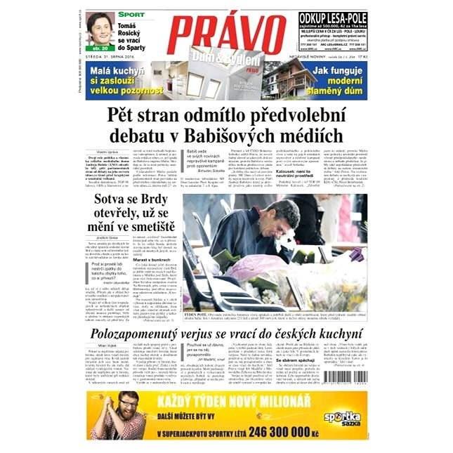 Právo - 31-08-2016 - Elektronické noviny