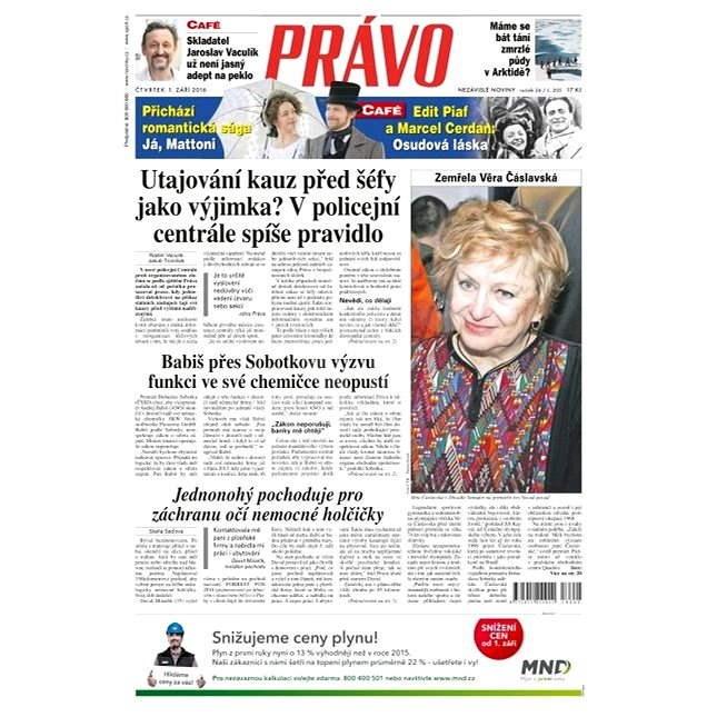 Právo - 01-09-2016 - Elektronické noviny