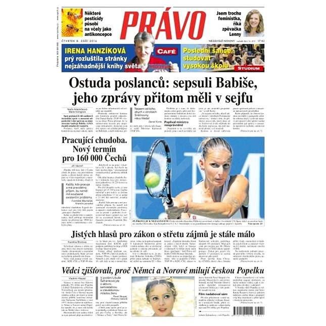 Právo - 08-09-2016 - Elektronické noviny