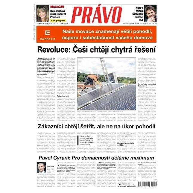 Právo - 10-09-2016 - Elektronické noviny
