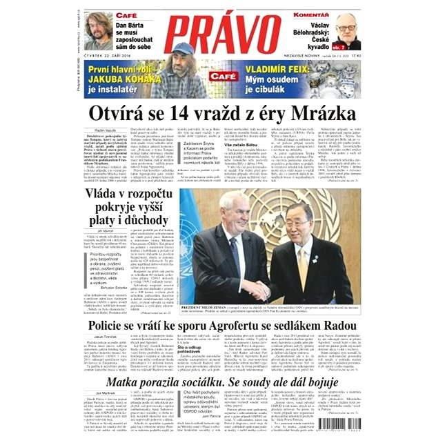 Právo - 22-09-2016 - Elektronické noviny
