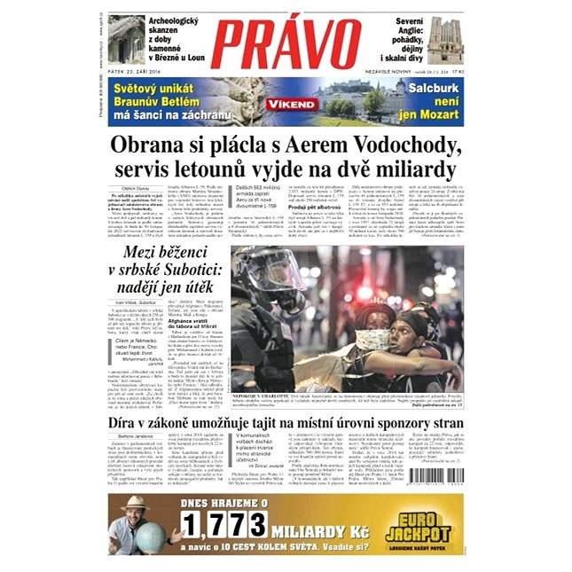 Právo - 23-09-2016 - Elektronické noviny