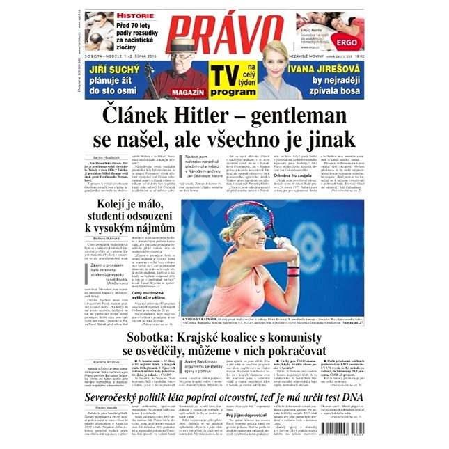 Právo - 01-10-2016 - Elektronické noviny