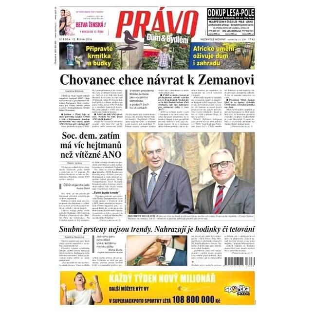 Právo - 12-10-2016 - Elektronické noviny