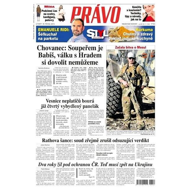 Právo - 18-10-2016 - Elektronické noviny