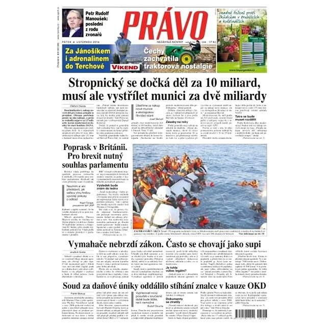 Právo - 04-11-2016 - Elektronické noviny