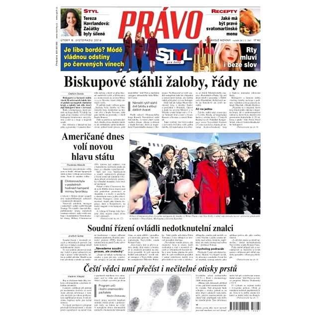Právo - 08-11-2016 - Elektronické noviny