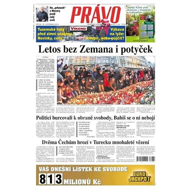Právo - 18-11-2016 - Elektronické noviny