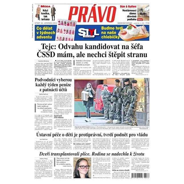 Právo - 22-11-2016 - Elektronické noviny