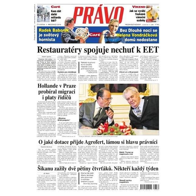 Právo - 01-12-2016 - Elektronické noviny