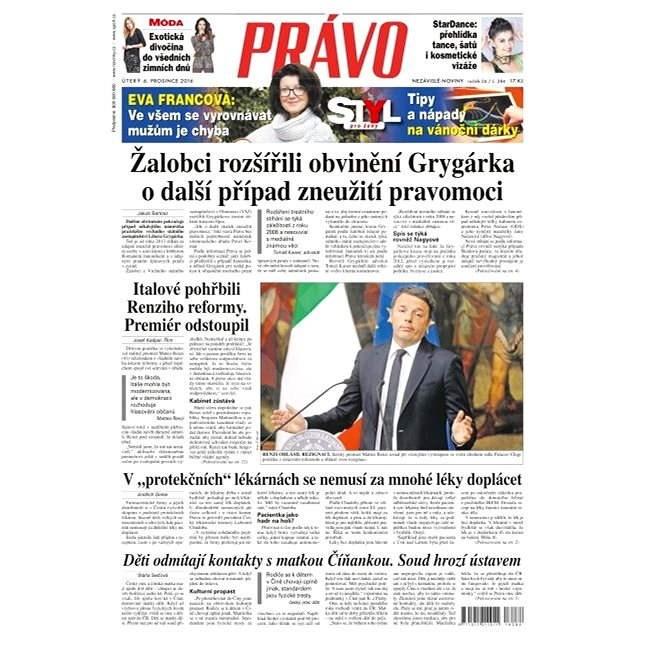 Právo - 06-12-2016 - Elektronické noviny