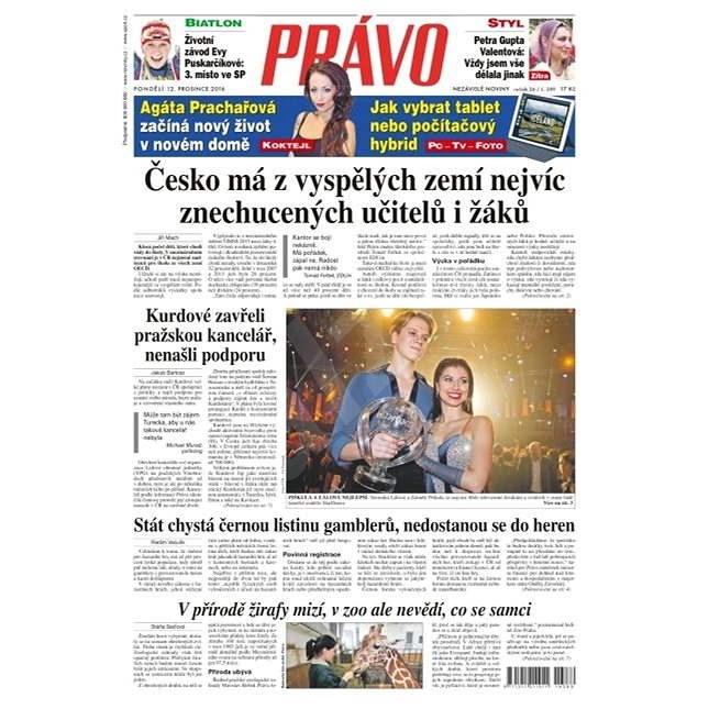 Právo - 12-12-2016 - Elektronické noviny