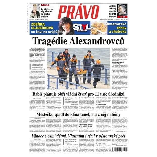 Právo - 27-12-2016 - Elektronické noviny