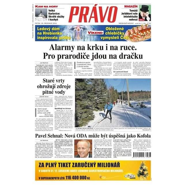 Právo - 30-12-2016 - Elektronické noviny