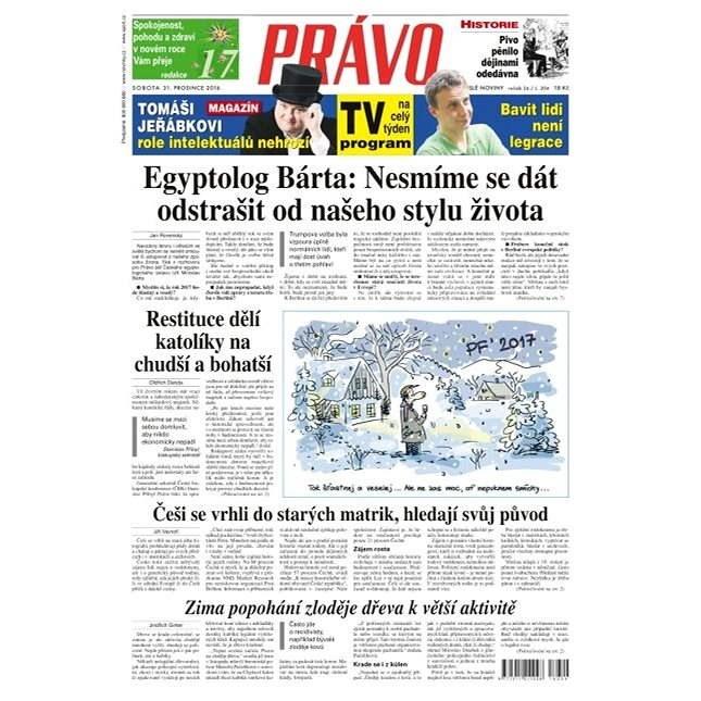 Právo - 31-12-2016 - Elektronické noviny