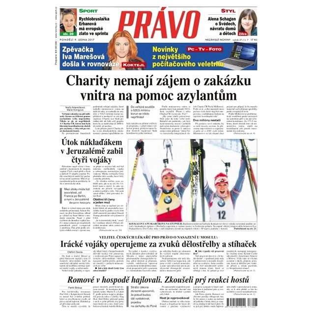 Právo - 09-01-2017 - Elektronické noviny