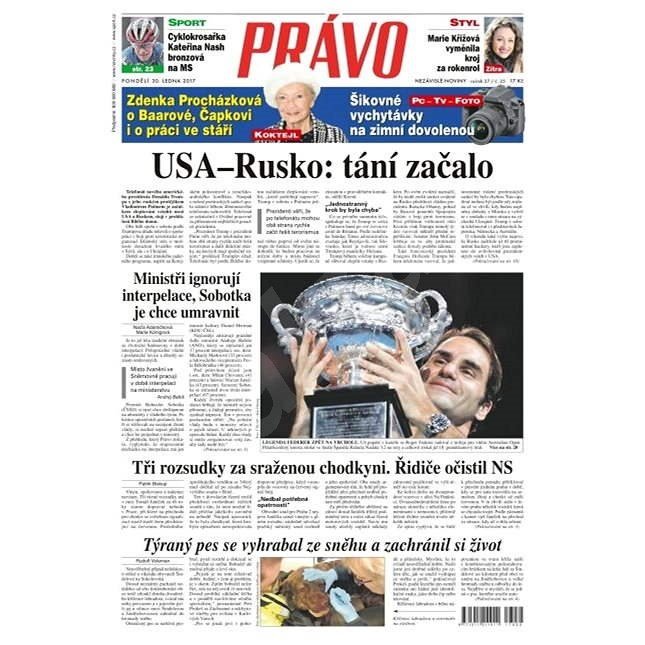 Právo - 30-01-2017 - Elektronické noviny
