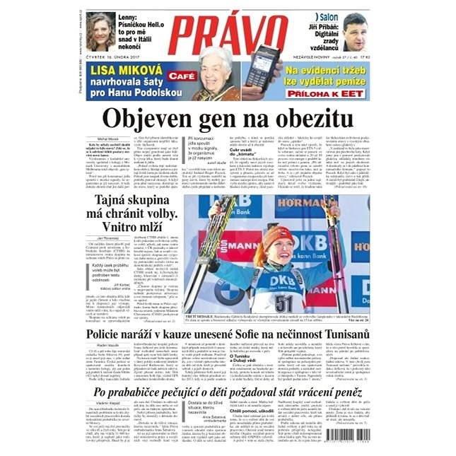 Právo - 16-02-2017 - Elektronické noviny