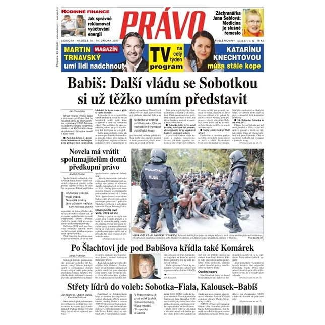 Právo - 18-02-2017 - Elektronické noviny