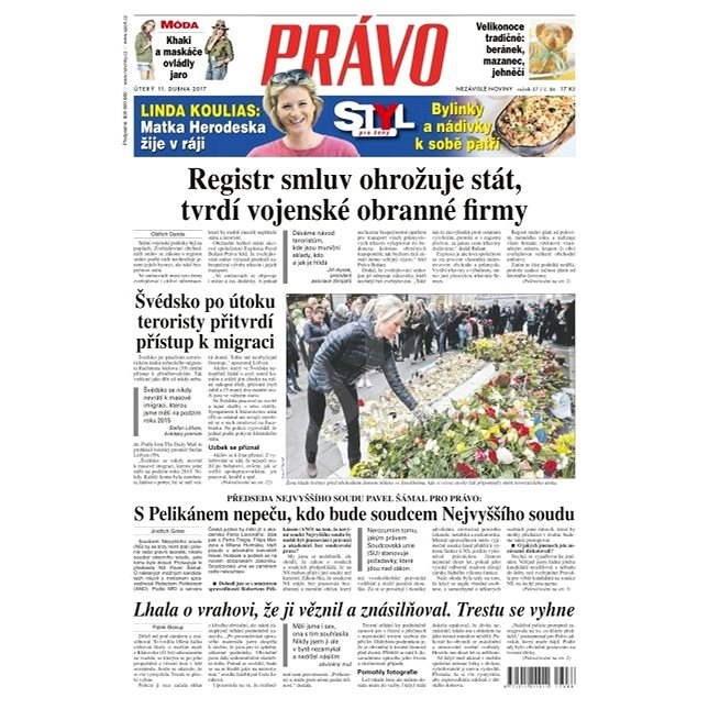 Právo - 11-04-2017 - Elektronické noviny