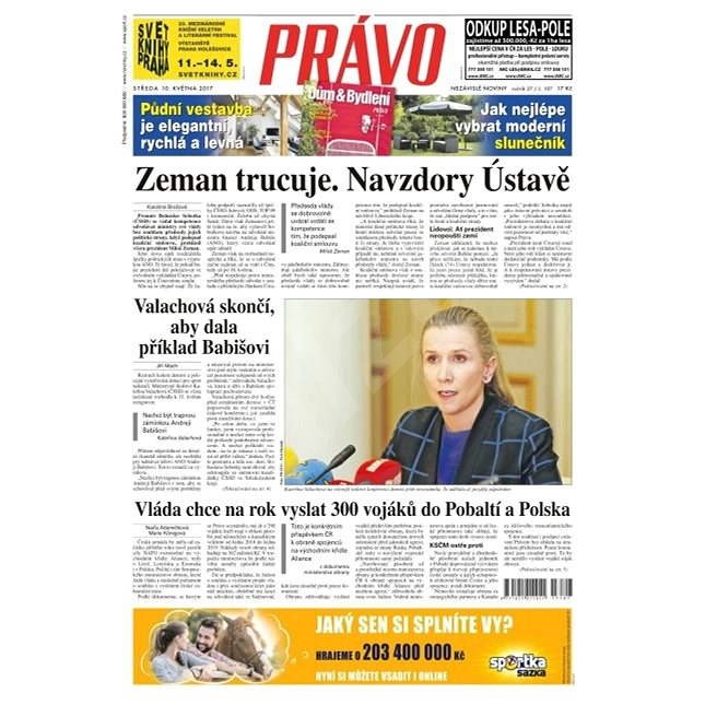 Právo - 10-05-2017 - Elektronické noviny