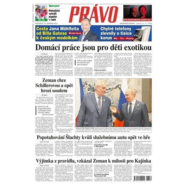 Právo - 15-05-2017 - Elektronické noviny