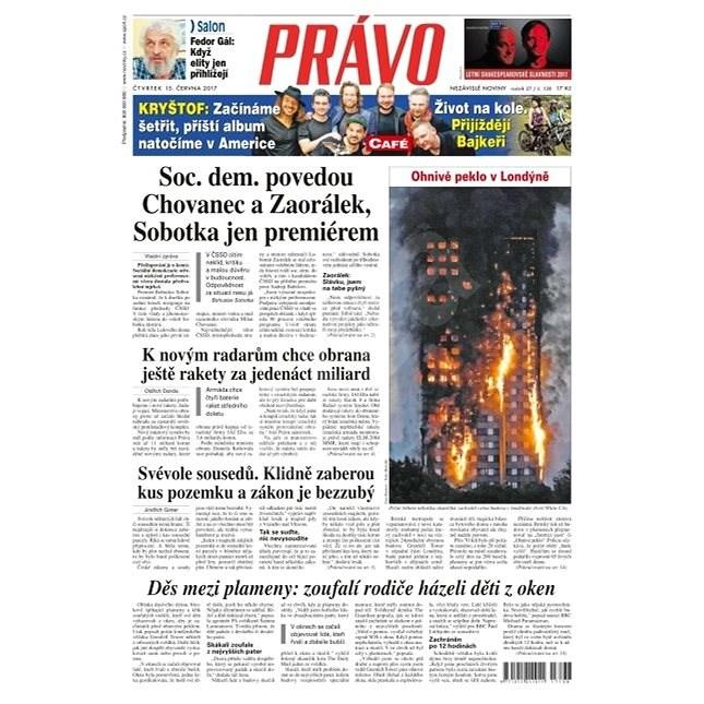 Právo - 15-06-2017 - Elektronické noviny