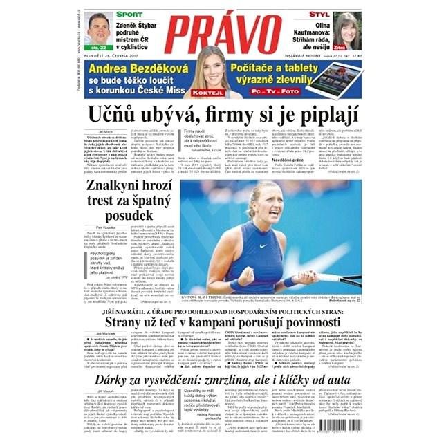 Právo - 26-06-2017 - Elektronické noviny