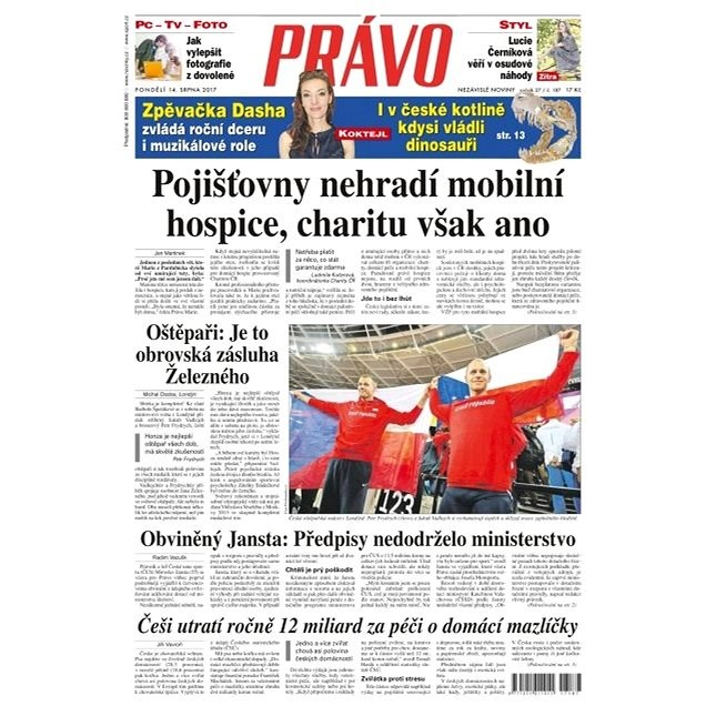 Právo - 14-08-2017 - Elektronické noviny