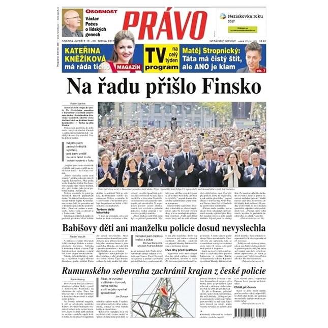 Právo - 19-08-2017 - Elektronické noviny