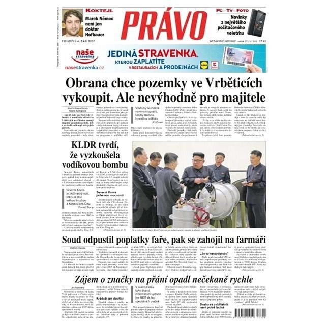 Právo - 04-09-2017 - Elektronické noviny