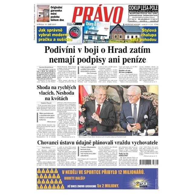Právo - 13-09-2017 - Elektronické noviny