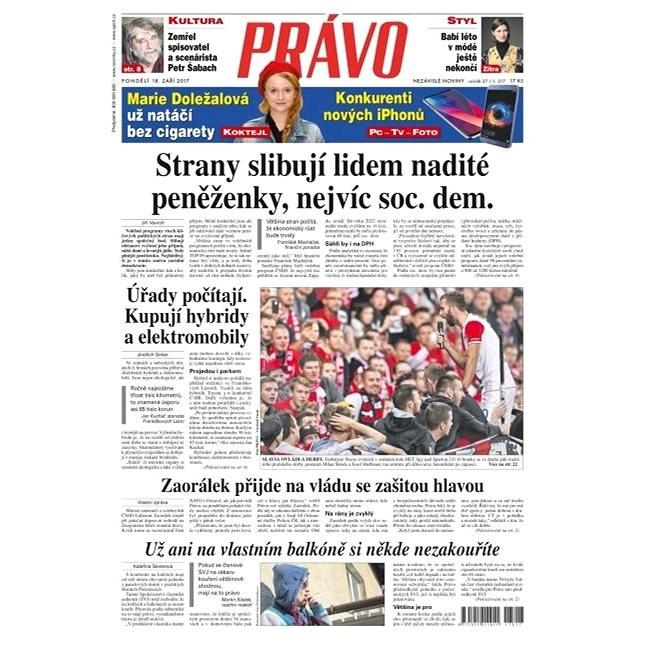Právo - 18-09-2017 - Elektronické noviny