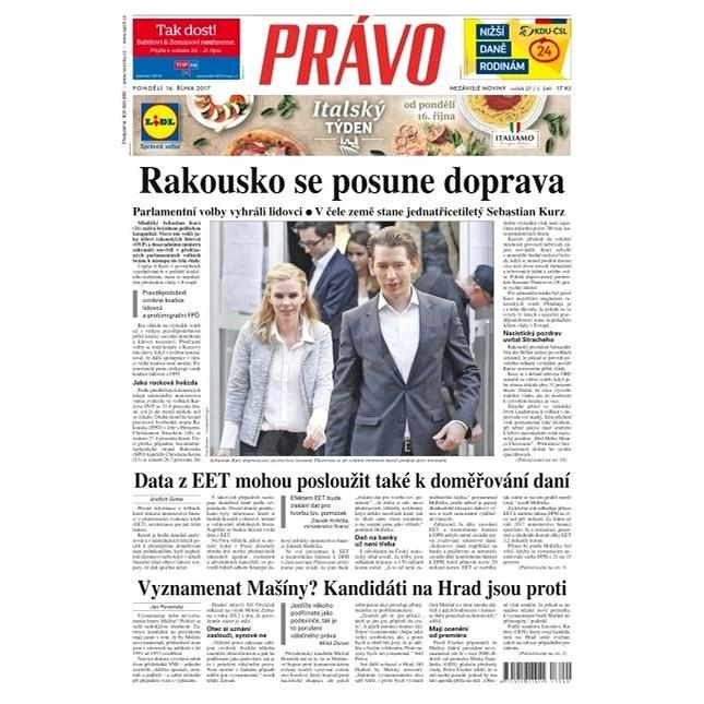 Právo - 16-10-2017 - Elektronické noviny