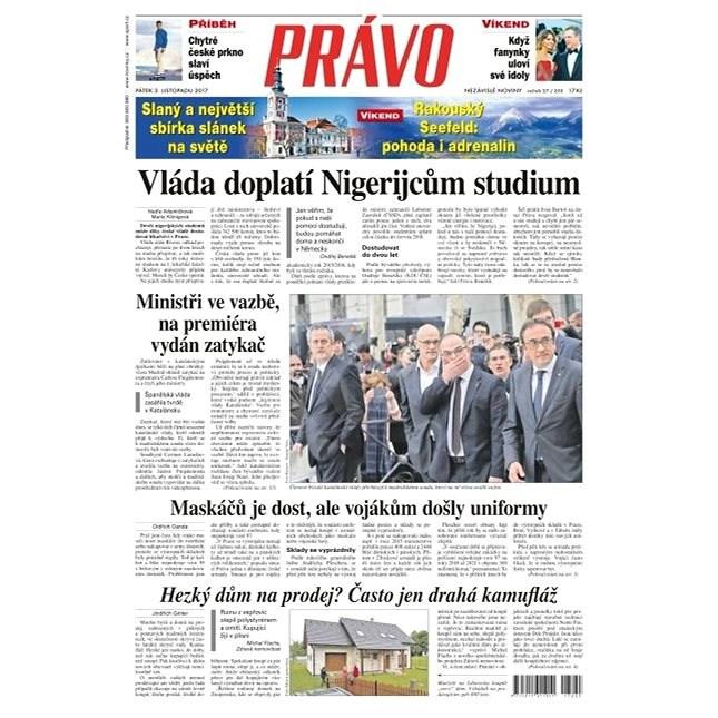 Právo - 03-11-2017 - Elektronické noviny