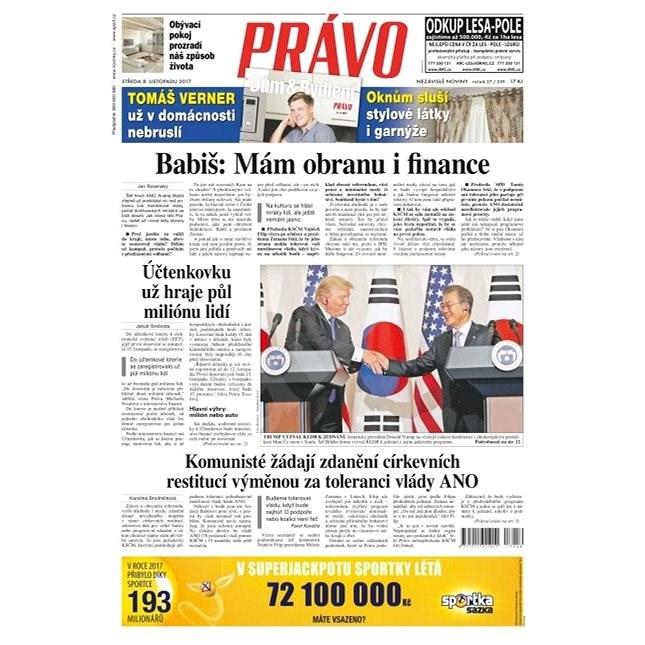 Právo - 08-11-2017 - Elektronické noviny