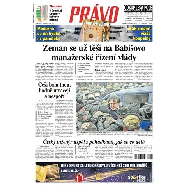 Právo - 06-12-2017 - Elektronické noviny