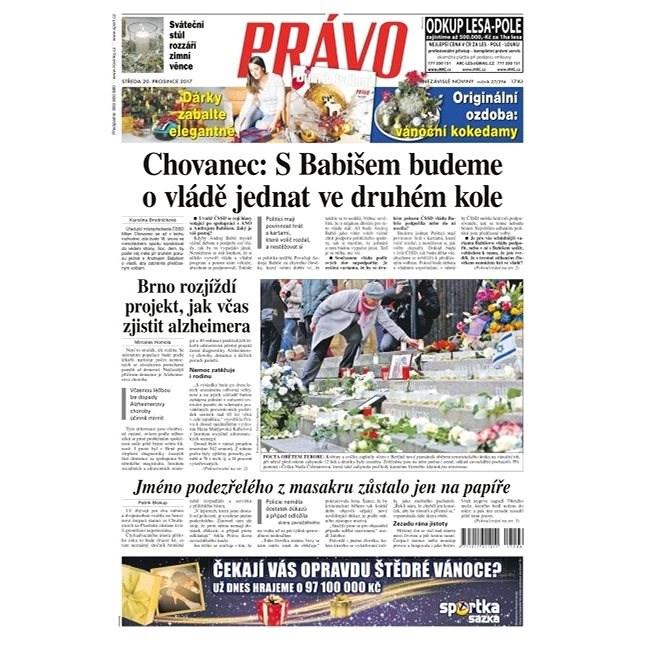 Právo - 20-12-2017 - Elektronické noviny