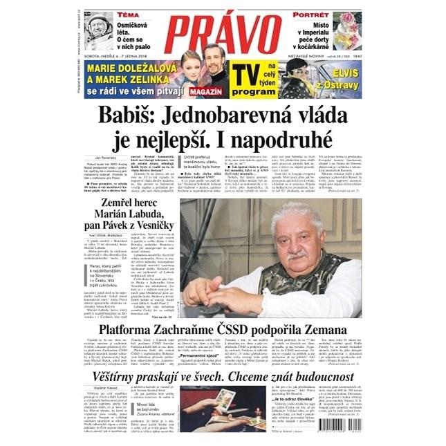 Právo - 06-01-2018 - Elektronické noviny