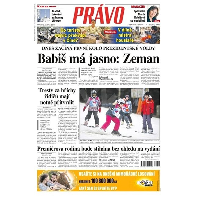 Právo - 12-01-2018 - Elektronické noviny