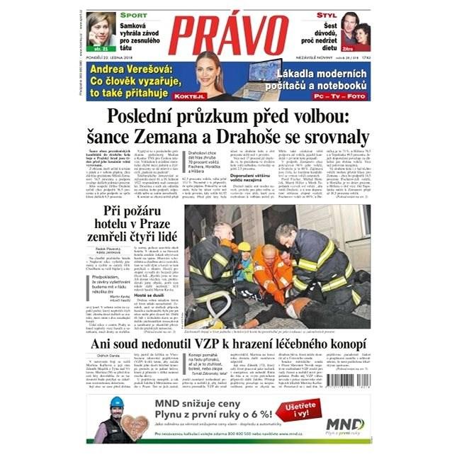 Právo - 22-01-2018 - Elektronické noviny