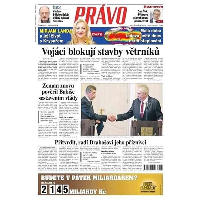 Právo - 25-01-2018 - Elektronické noviny