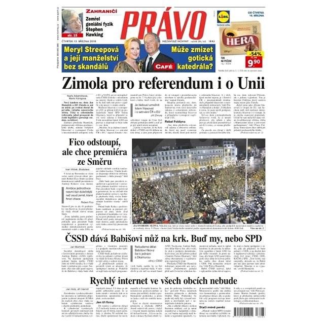 Právo - 15-03-2018 - Elektronické noviny