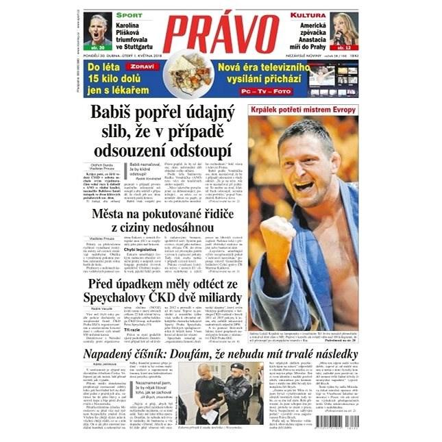 Právo - 30-04-2018 - Elektronické noviny