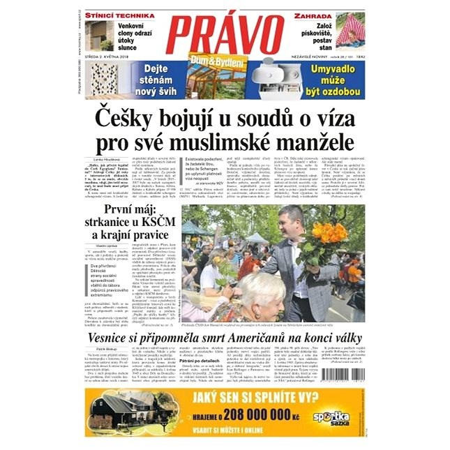 Právo - 02-05-2018 - Elektronické noviny
