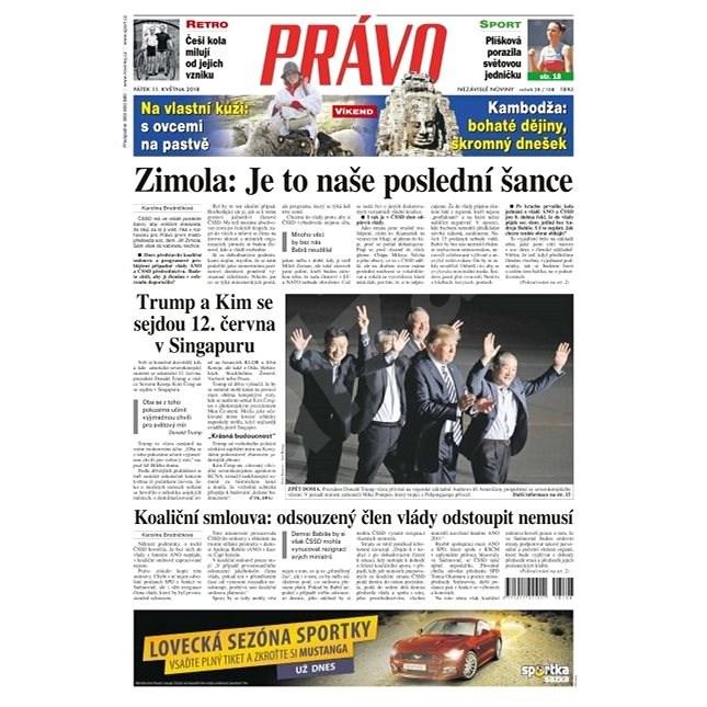 Právo - 11-05-2018 - Elektronické noviny